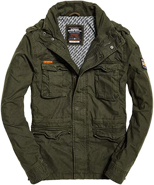 Superdry Herren Classic Rookie Military Jacket Mantel