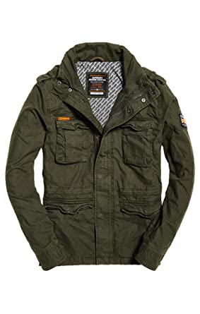 new arrival 5217d b7293 Superdry Herren Classic Rookie Military Jacket Mantel