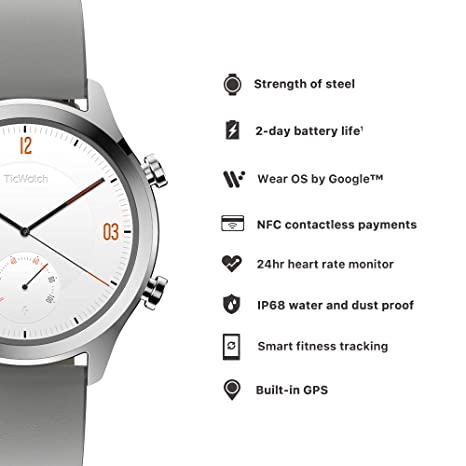 Mobvoi TicWatch C2, Wear OS by Google Classic Smartwatch ...