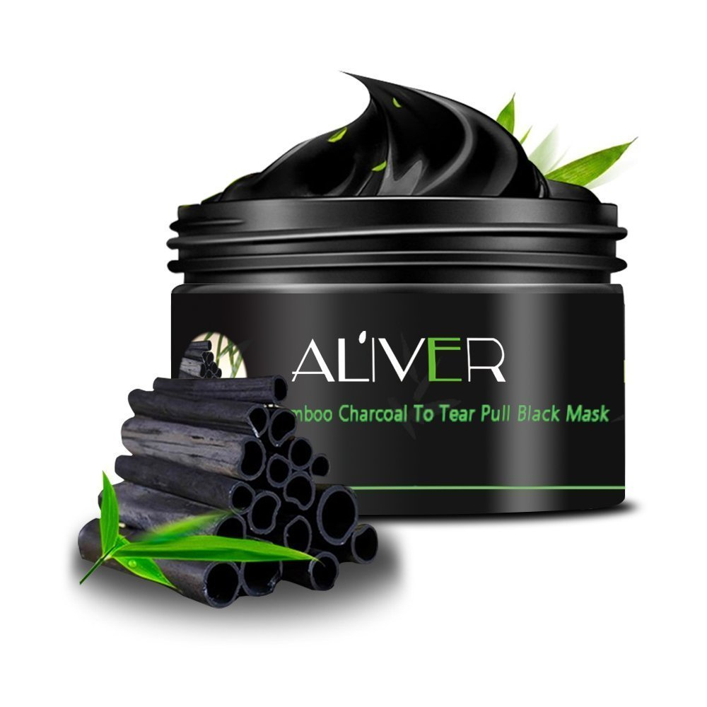 ALIVER Black Face Mask Bamboo Charcoal Deep Cleansing Mask Blackhead Remover Mask Blackhead Peel Off Mask Moulis