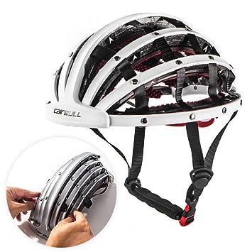 Lixada Bicicleta Casco Plegable Ciclismo Casco Adulto Carretera Bicicleta Seguridad Casco Ligero Deportes Equipo de Protección