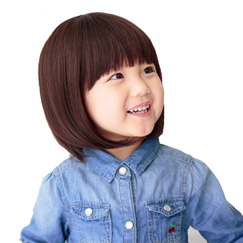YYTA Short/Long Curly Wave Cosplay Wig Hair Adjustable Costume Synthetic Heat Resistant for 5-10 Years Children Girl