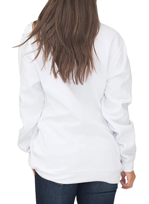 BJGXFMQ Womens Long Sleeve Oversized 1//4 Zip Pullover Sweatshirt Top Pockets Outwear