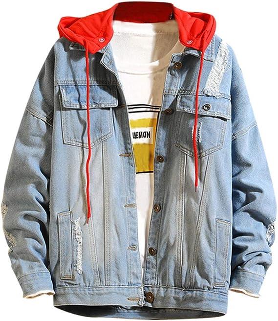 メンズ デニムジャケット パーカー フード付き 長袖 アウター ストリート コート 春秋 大きいサイズ カジュアル ゆったり 上品