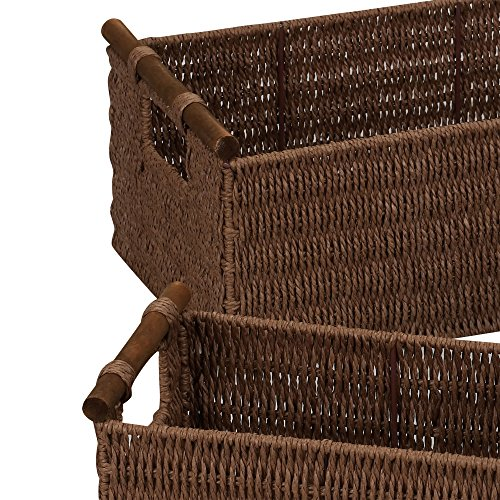 Buy antique wood woven basket