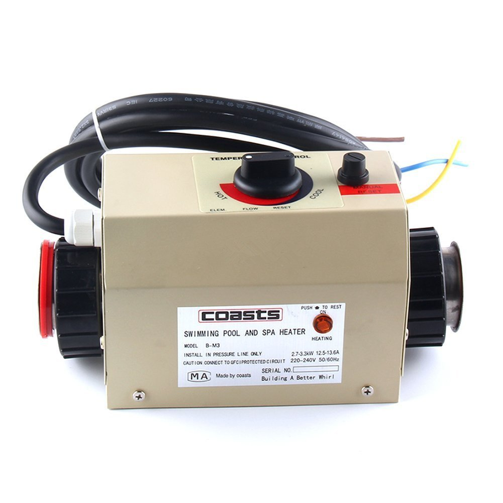 Premium Quality Water Heater Thermostat 220V 3KW Swimming Pool Thermostat SPA Bath Portable Pool Heater Electric Water Heater Thermostat Heater Pump by cjc