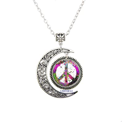 Peace Sign Symbol Pendant Forum Novelties Women s Groovy Peace Medallion  jewelry Peace Sign Necklace gift e46fc1b6d6b9