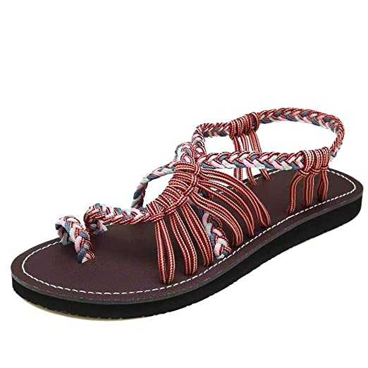 2347d72565eac5 Amazon.com  JJLIKER Women Summer Flat Sandals