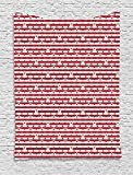 asddcdfdd 4th of July Tapestry, Stripes with Stars Freedom and Liberty of the USA National Holiday, Wall Hanging for Bedroom Living Room Dorm, 60 W X 80 L Inches, Royal Blue Biege Red