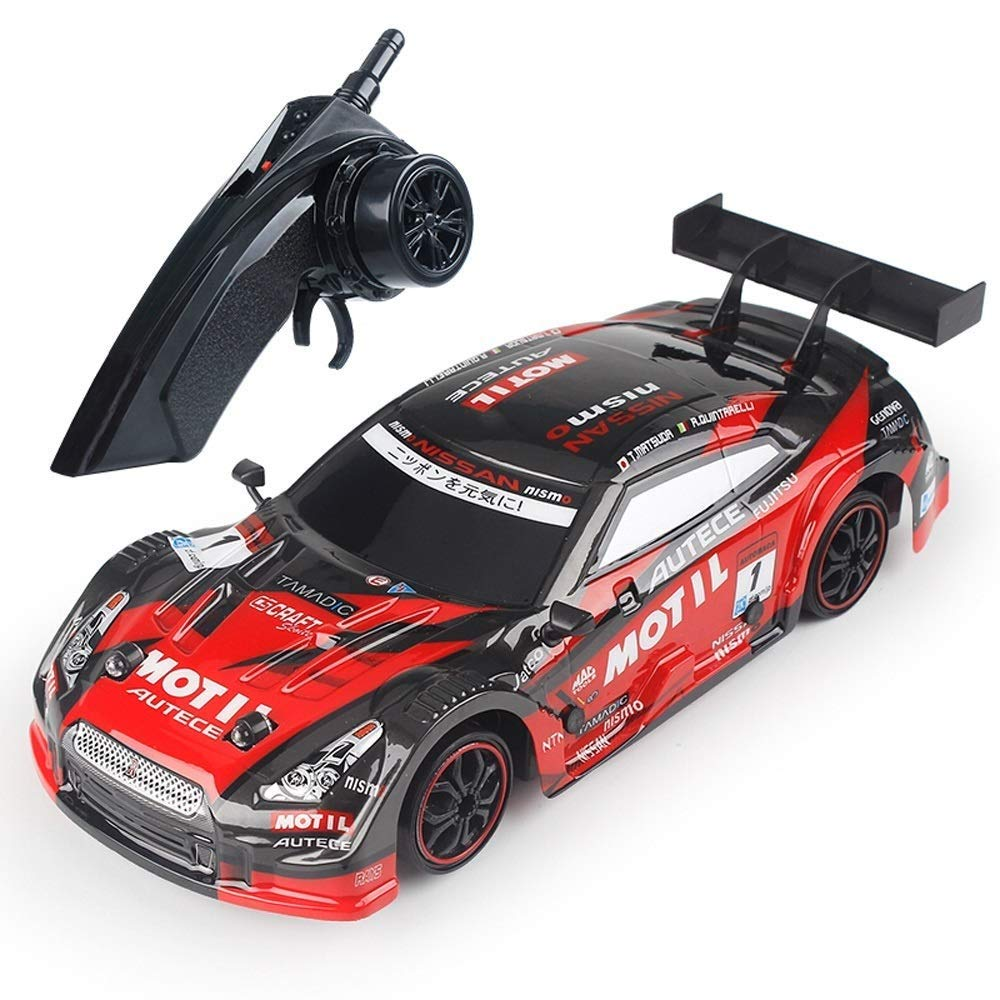 Red 2Battery IBalody 39KM H High Speed Professional 2.4G Remote Control Car 1 18 Drift Fourwheel Drive Adult Racing RC Simulation Racing Car Birthday Gifts for Kids 6+ (color   Red, Size   2Battery)