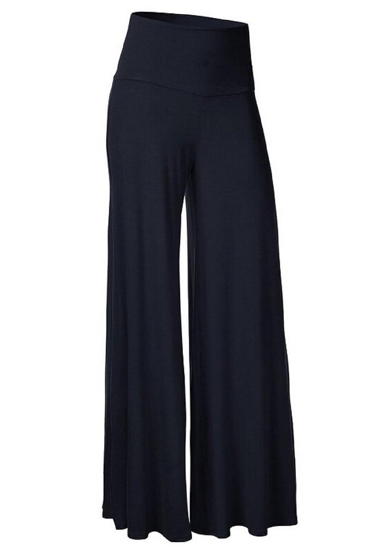 Bgoodgirl Women's High Waist Long Trousers Casual Wide Leg Pants