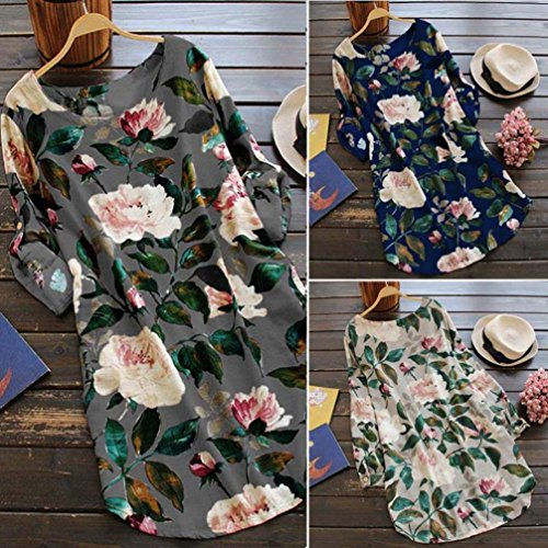 Robe Gris Mini Summer de Challeng Floral la Taille Party Femme Soire Plus Robes Robe Plage Longue Manches Imprimer Robes Longues de Longues Robes Femmes Femmes Sz5wqPz4Zx