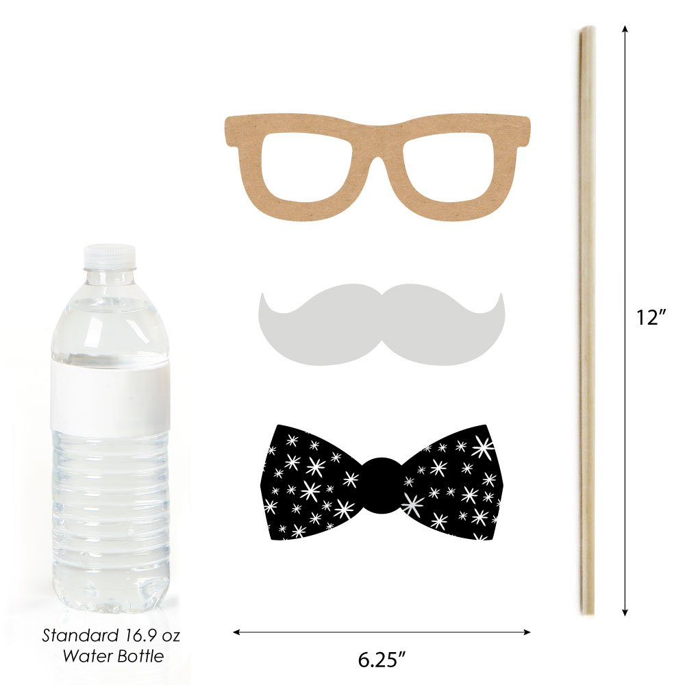 Party Photo Booth Props Kit 20 Count Big Dot of Happiness Magic