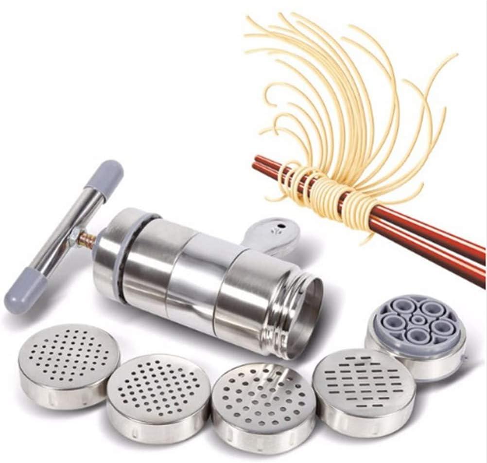 Edelstahl Manuelle Nudel-Maschine Nudel Press Pasta Spaghetti Fettuccine Für Kulinarische Enthusiasten,Silber Silver