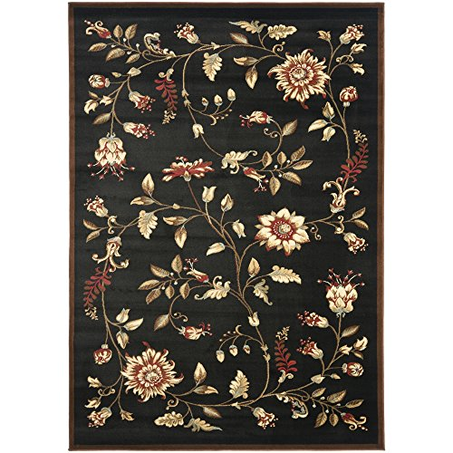 Safavieh Lyndhurst Collection LNH552-9091 Traditional Floral Black and Multi Area Rug (3'3