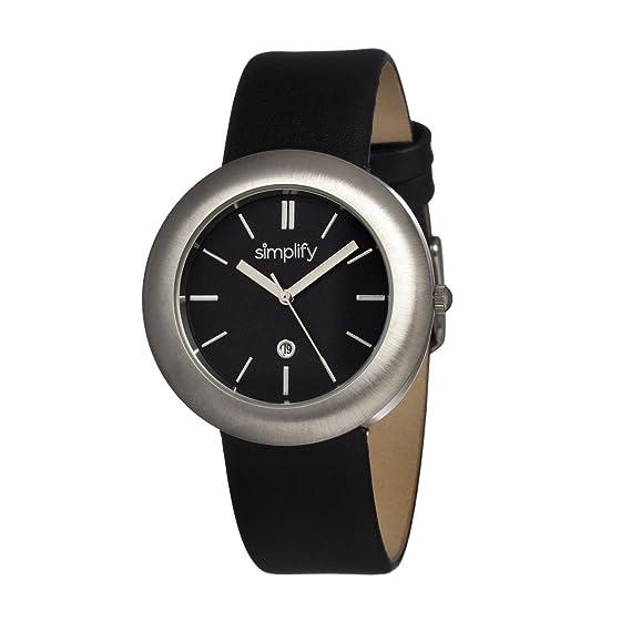 De Sim0902 Cuero es RelojCorrea Color Simplify NegroAmazon Aj354LRq