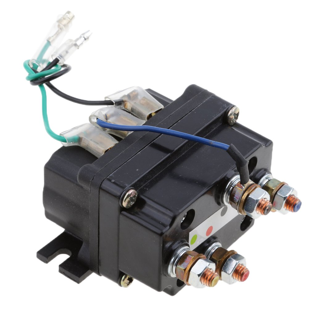 MonkeyJack 12V Electronic Winch Relay Contactor Solenoid for ATV UTV Truck Car Auto