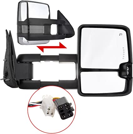 Power Heated Door Towing Mirrors Side Mirror Pair for 1999-2002 Chevy GMC Truck