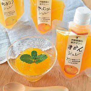 お試し セット みかんゼリー ギフト 寒天ジュレ オレンジゼリー パウチタイプ 化学添加物不使用 ネコポス (みかん2・きよみ1)