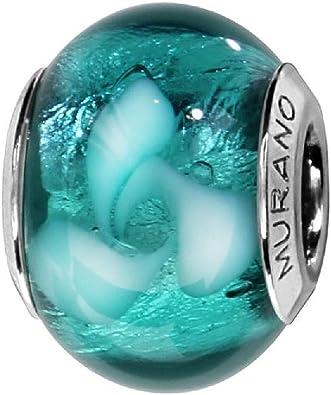 charm pandora murano bleu
