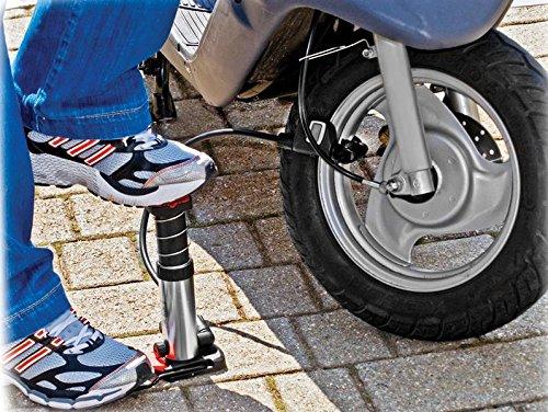 bikersdream 1004D Mini-Pompe /à Pied num/érique Noir//Violet
