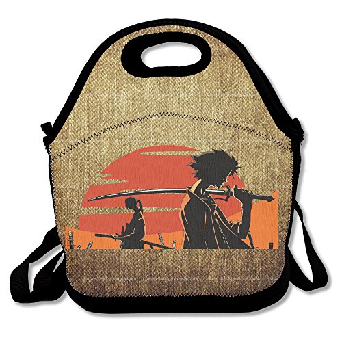 Samurai Champloo Insulated Lunch Bag/ Backpack / Tote With Zipper, Carry Handle And Shoulder Strap For Adults Or Kids