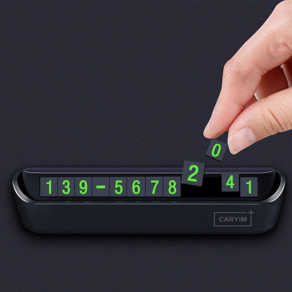 Schwarz Vosarea Tempor/äre Parkplatz Karte Luminous Display Handy Telefon Karte Kennzeichenhalter