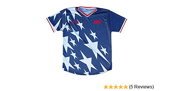 3d8aab565 Amazon.com  USA 1994 Denim Soccer Jersey  Clothing