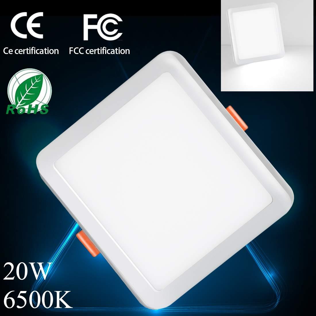LEDフラッシュマウントパネルライト 円形 ニュートラルホワイト LEDドライバー付きダウンライト B07H2CQKMC