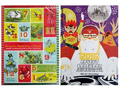 Trader Joes 2016 Milk Chocolate Christmas Advent Calendar