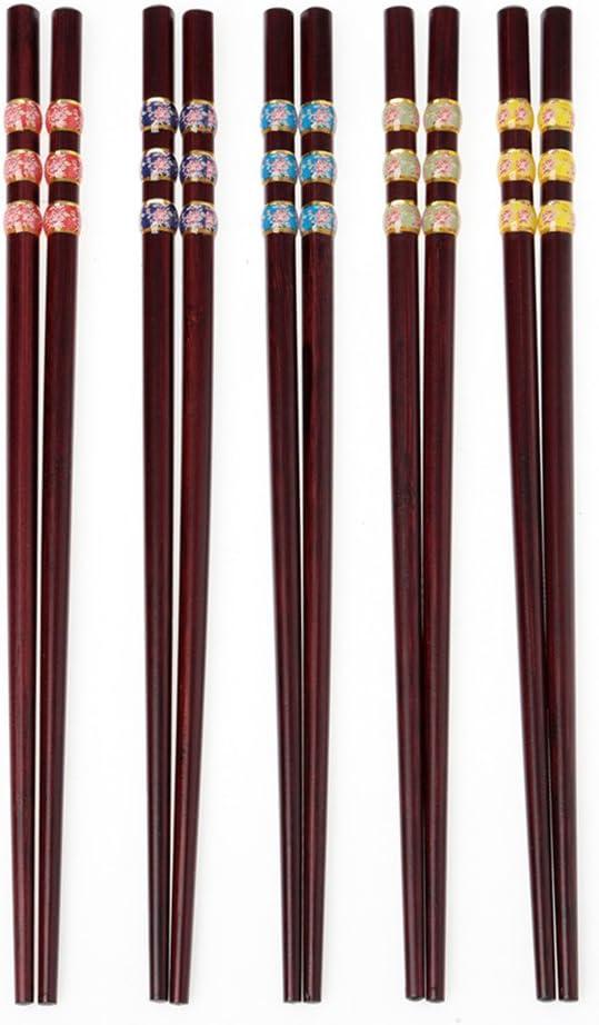 Palillos japoneses Naturaleza Palillos 5 pares de sushi palitos de ...