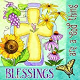 Blessings are a God Thing Cross Floral 20 Count 3-Ply Paper Luncheon Napkins Pack of 2