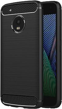 AICEK Funda Moto G5 Plus, Negro Silicona Fundas para Motorola ...