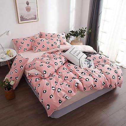 H.Y.FFYH Edredón Set Patrón de Manchas de Leopardo Rosa Ropa ...