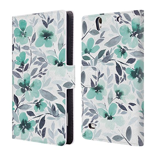 official-jacqueline-maldonado-espirit-mint-patterns-leather-book-wallet-case-cover-for-sony-xperia-c