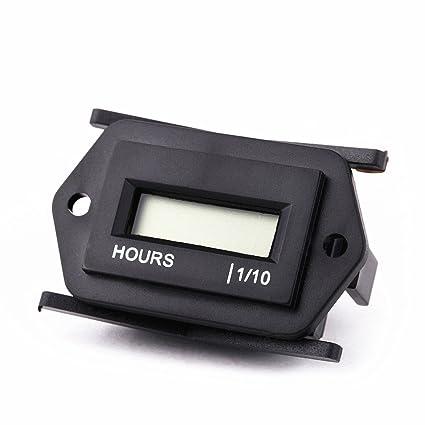 Searon 12v 24v 36v 48v Small Digital Hour Meter For Marine Boat Automotive