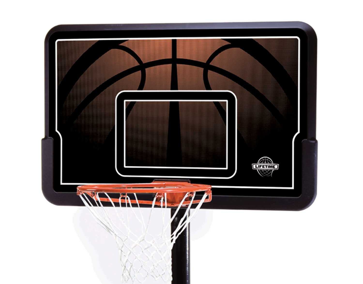 Lifetime 90040 Height Adjustable Portable Basketball System, 44 Inch Backboard by Lifetime (Image #2)