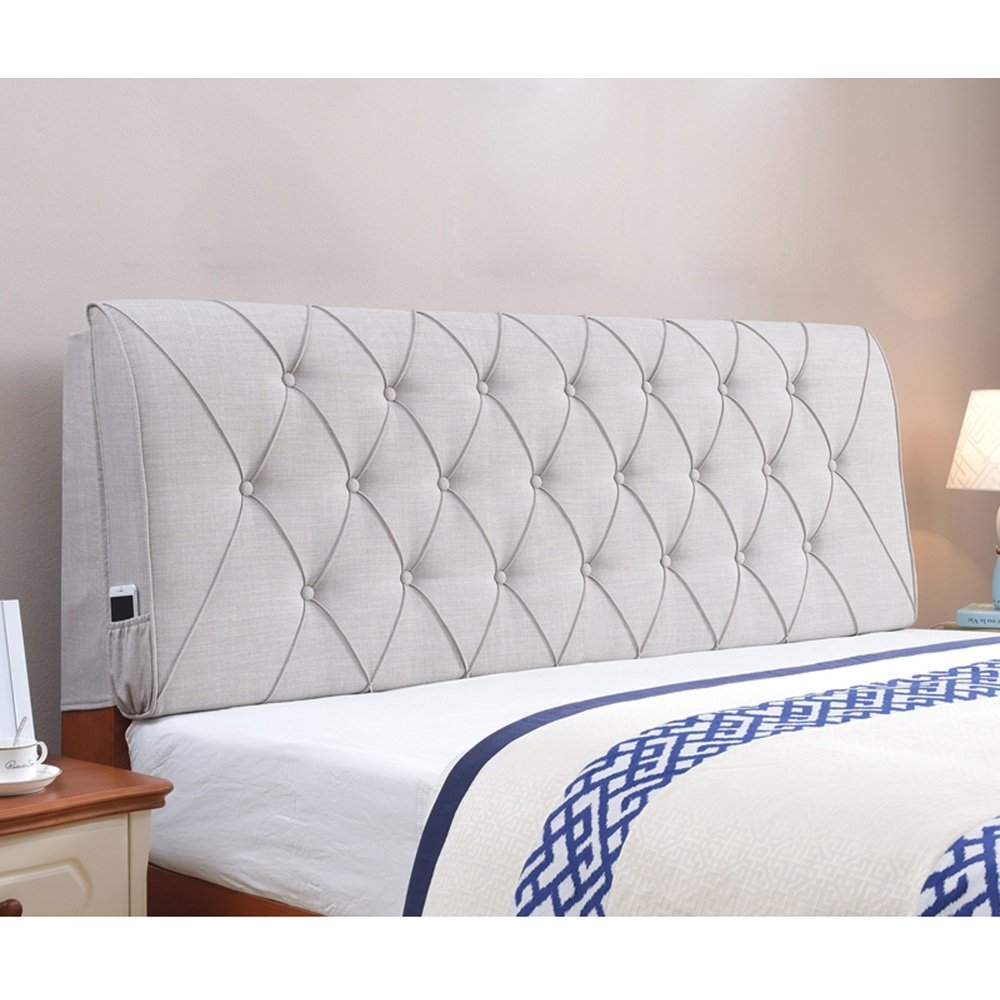 Cloth bed soft bag / double bedside cushion / backrest soft bag / pillow / bed cover ( Color : Gray , Size : 60180cm )