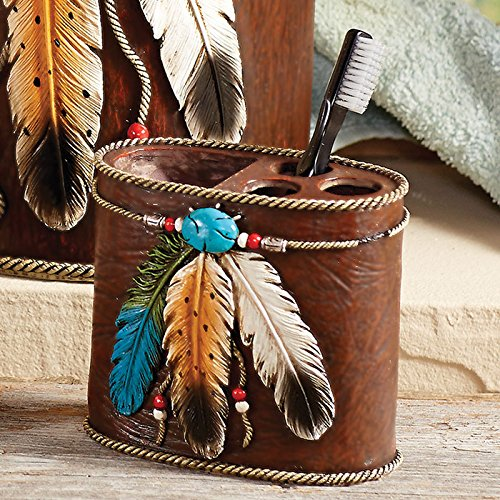 BLACK FOREST DECOR Turquoise Feather