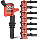 High Performance Pack of 8 Straight Boot - Upgrade 15% More Energy Ignition Coils Compatible with Ford F150 Lincoln Mercury V