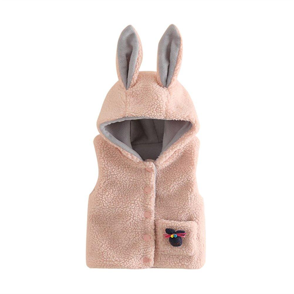 SPRMAG Baby Girls Animals Cartoon Vest Coat Fleece Waistcoat Outerwear Made in China