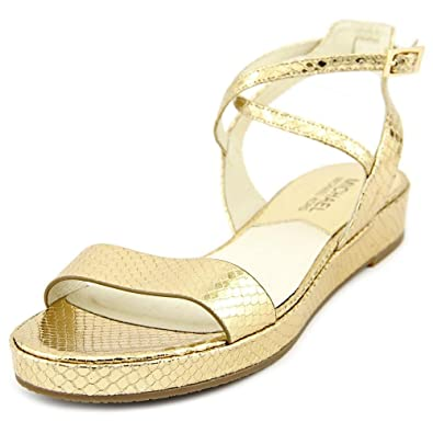 2a4537c3ee15c Michael Michael Kors Kaylee Flat Women US 9.5 Gold Slingback Sandal