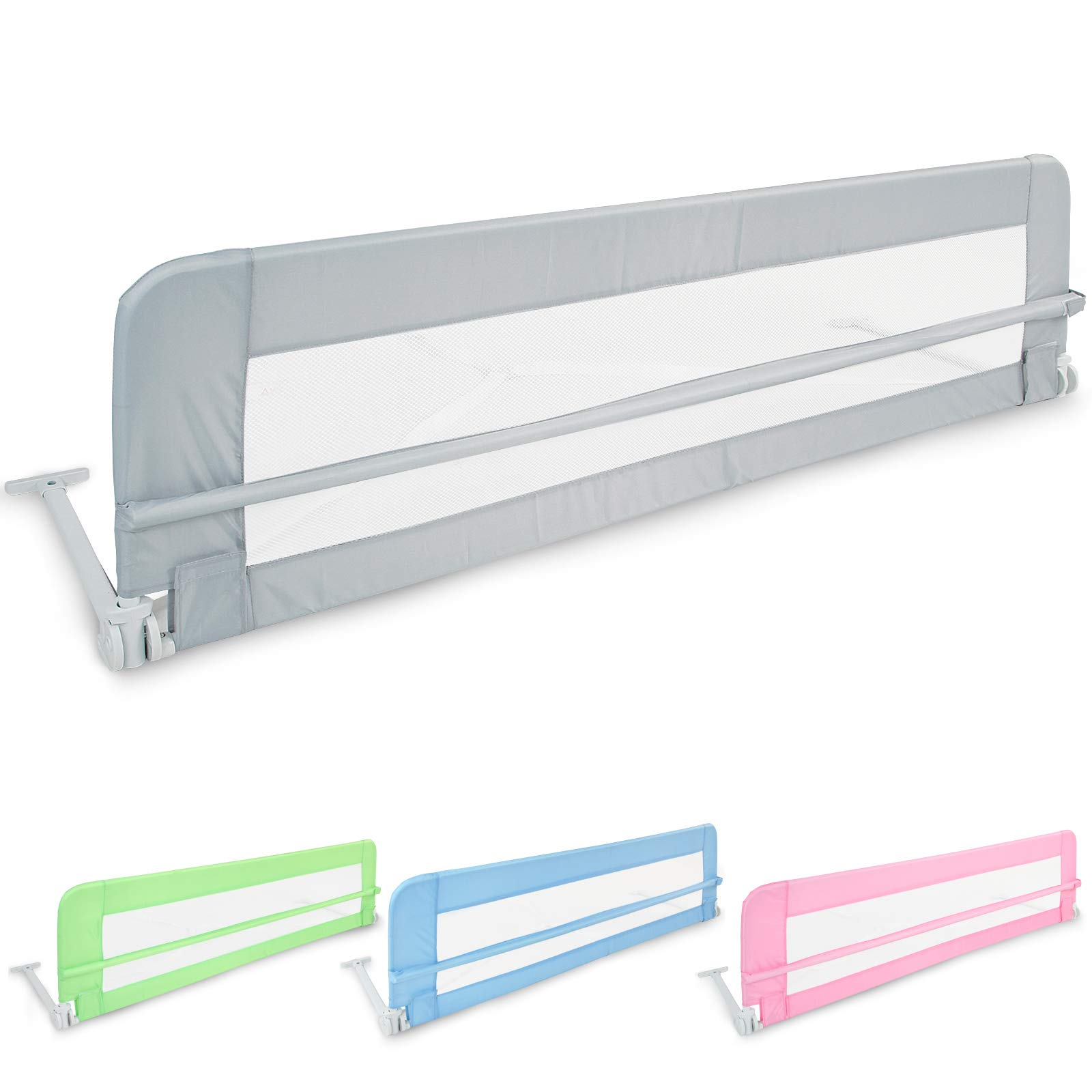 Plegable barrera cama (102 / 42cm - 150 / 42cm) | en tamaño y