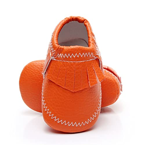 822a772136fe HONGTEYA Baby Boys Girls Toddler Moccasins - Premium Soft Sole PU Leather  Tassel Crib Shoes for