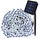 Solarmks Solar String Lights 72 ft 8 Modes 200 LED Fairy Garden Lights Waterproof Starry Christmas Lights for Gardens Patio, Xmas Tree,Holiday, Christmas, Party (White)