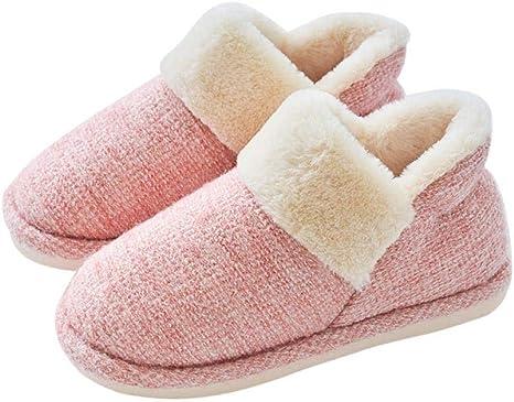 LIANGXIEW Zapatillas para Mujer Algodón Slippers,Rosa Algodón Algodón Afelpado Zapatos: Amazon.es: Deportes y ...