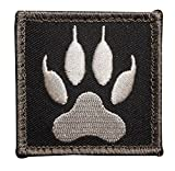 Kaben Wolf Tracker PAW USA Army Military Morale Tactical Black Ops Swat Velcro Patch, 1PCS