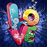 DIY Diamond 5D Embroidery Paintings,Oucan Love Heart 5D Full Drill Embroidery Painting Kit 5D Decorating Wall Stickers 5D DIY Diamond Painting Set for Living Room (30 * 30cm)