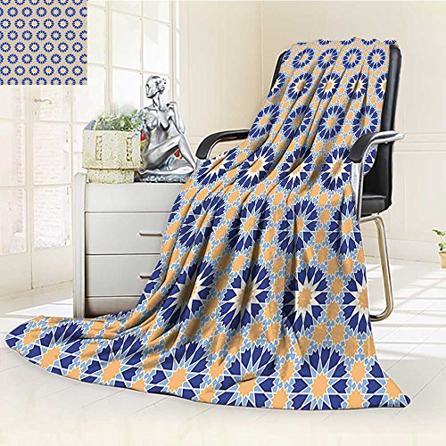 AmaPark Digital Printing Blanket Arabic with Star Like Asian Bouquet Corsage Dark Summer Quilt Comforter (Asian Bouquet)