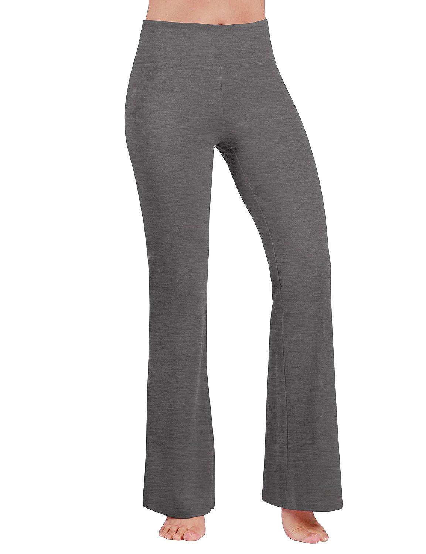 ODODOS Power Flex Boot Cut Yoga Pants Tummy Control Workout Non See Through Bootleg Yoga Pants